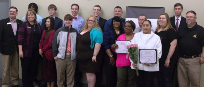 Student Commitment to Excellence 2016 with trustees & president