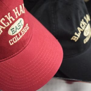black hawk college hats in East Campus Bookstore