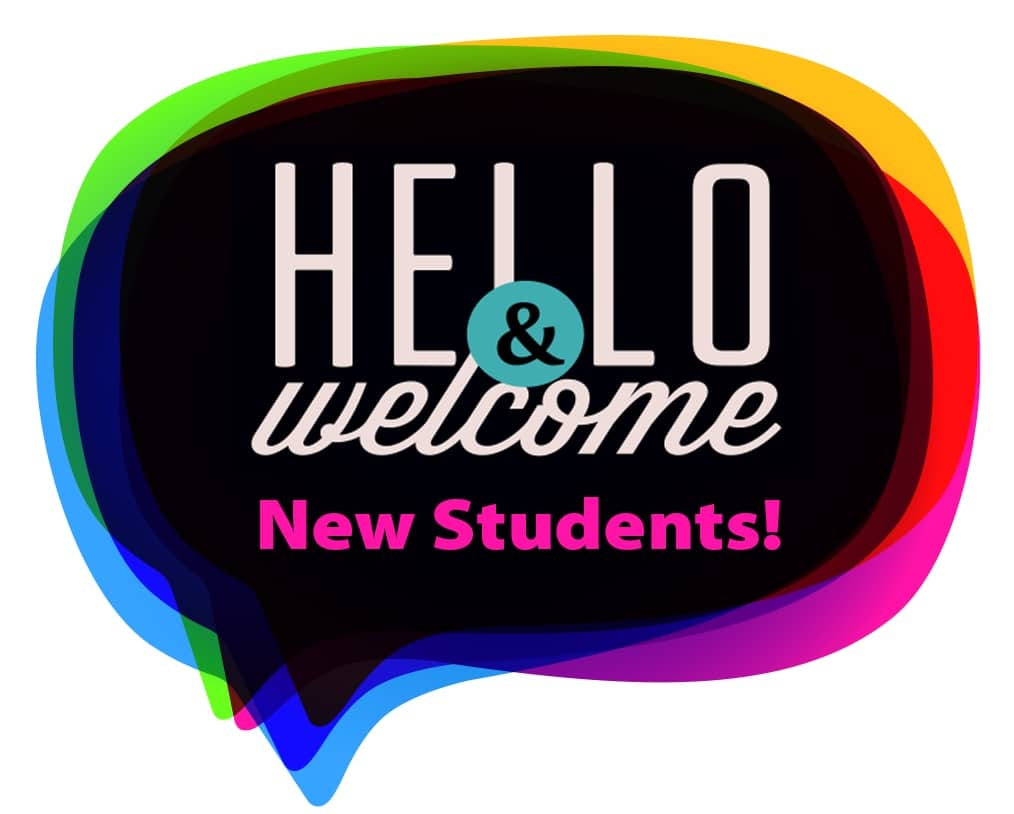 welcome new students sign for Welcome Week Orientations