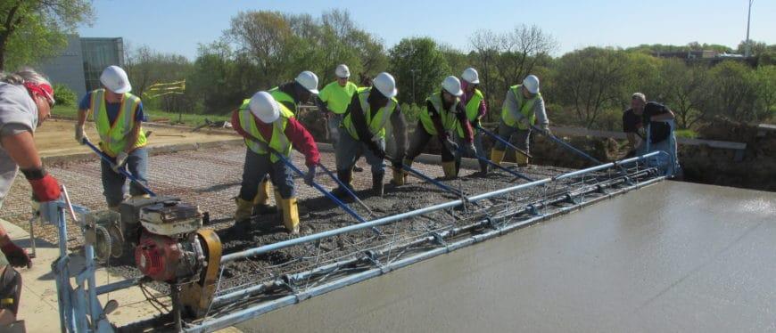 Highway construction program in action