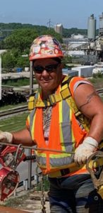 woman in construction uniform