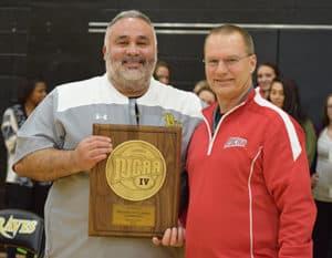 Coach Chivera and Gary Huber on Awards Night
