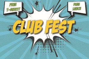 club fest, free t-shirt, free lunch