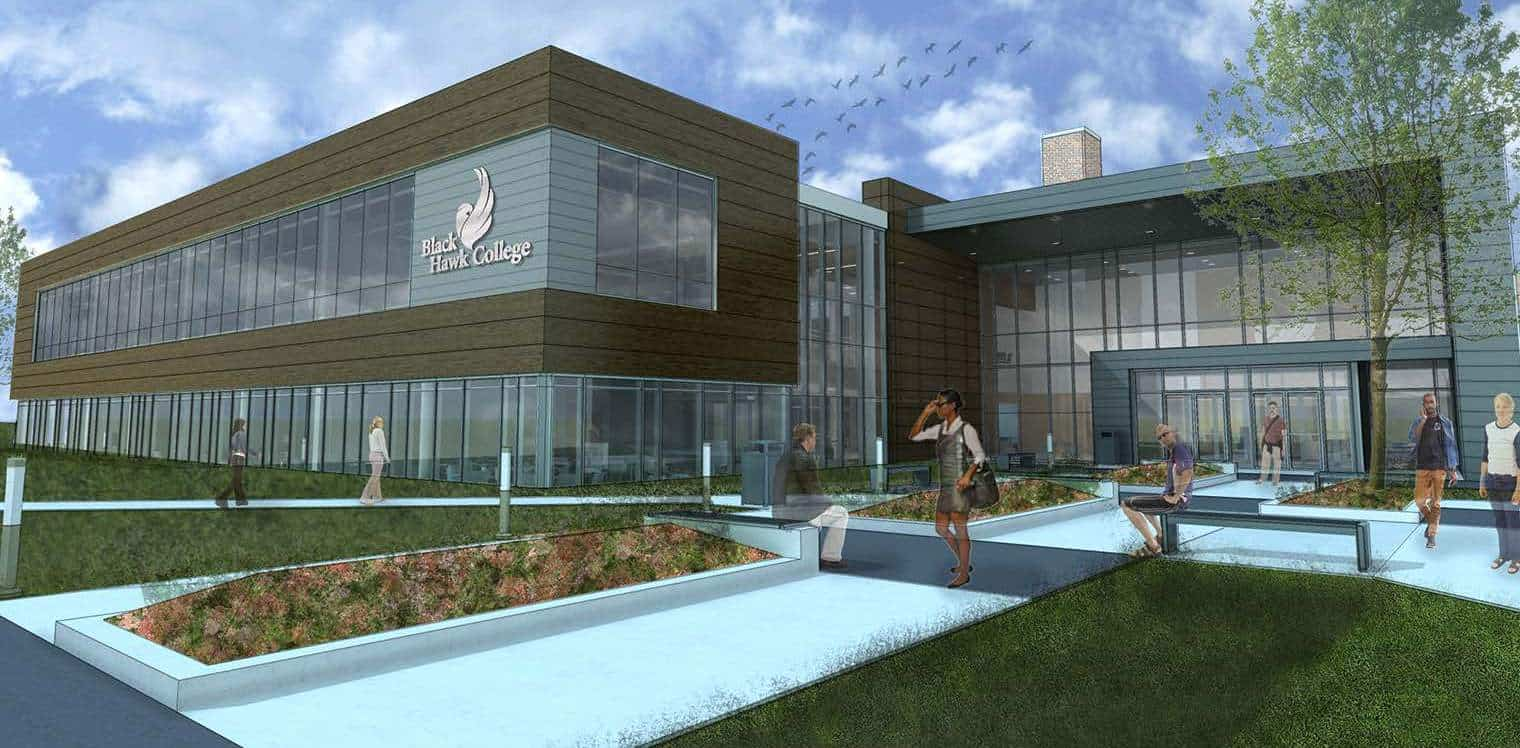 artist rendering of the new building 1 addition