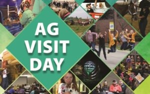 Ag Visit Day text with photo collage of students