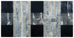 """black & white artwork named """"Coded Stories"""""""