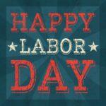Happy Labor Day sign
