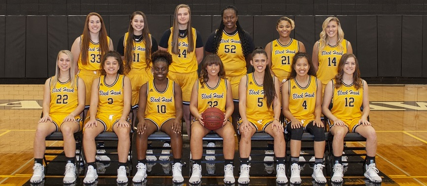 Black Hawk College women's basketball team for 2019-2020
