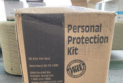 box of personal protection kits