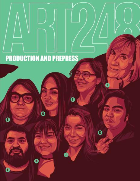 illustration of 8 people headshots
