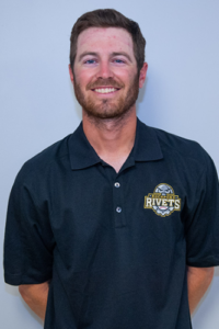 head & shoulders shot of Josh Keim in Rockford Rivets polo