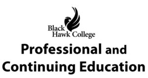 Black Hawk College logo Professional and Continuing Education