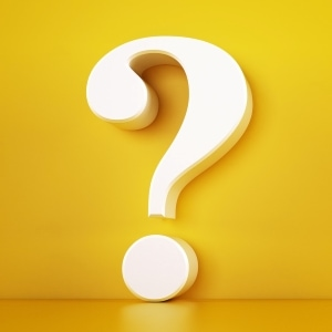white question mark on yellow background