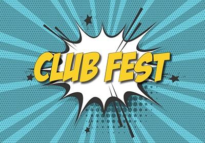 CLUB FEST in starburst