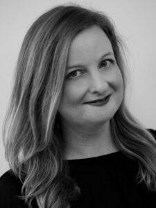 black and white headshot of Irene Apanovitch-Leites