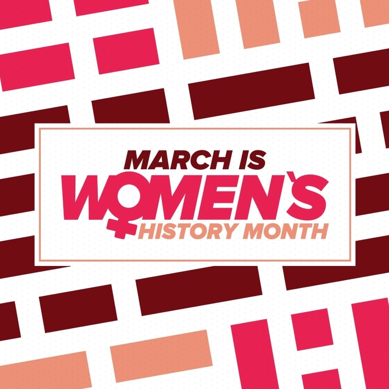 graphic March is Women's History Month